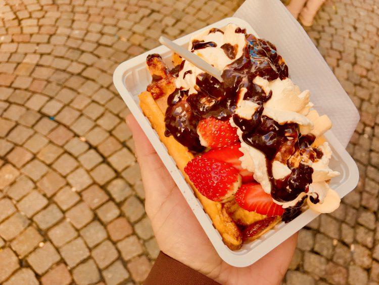 Strawberry-Chocolate Belgian Waffle